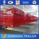 60ton China 3 Wellen-Zaun-Ladung-Viehbestand-Schlussteil