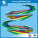 Etiqueta libre modificada para requisitos particulares de la etiqueta engomada de la motocicleta del diseño