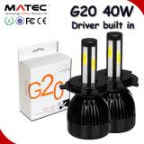 Bulbos autos 80W 96W, 40W G20 H1 H3 H11 H13 9007 de la linterna del coche LED de la MAZORCA de C6 G5 G20 9005 9006 linterna del coche H4 H7 de Hb3 Hb4 5202 LED