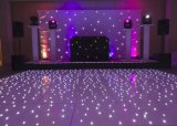 Envío gratis a 12*12en blanco y negro LED iluminado por las estrellas Pista de Baile DJ sensible LED de luz para la decoración de Boda