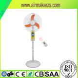 Ventilatori Emergency ricaricabili solari del basamento da 18 pollici con indicatore luminoso