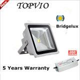 Projector elevado impermeável ao ar livre do diodo emissor de luz da ESPIGA 50W de Bridgelux dos lúmens IP65