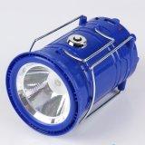 재충전용 LED 태양 야영 손전등