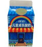 caixa 3-Layer da caixa da parte superior do frontão do suco 180g/leite/creme/vinho/água/Yogurt