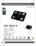 escala de las grasas de cuerpo de Platfrom del vidrio de 6m m (TGF-9010) con Bluetooth (opcional)
