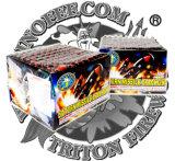 土星のミサイル300の打撃の花火