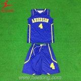Healongの大学網の肩の昇華レディースバスケットボールのユニフォーム