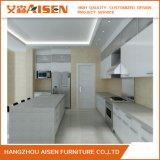 Panneau de particules et de particules en laine blanche Cabinet de cuisine à haute brillance