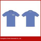 100%년 폴리에스테 형식 밝은 파란색 폴로 t-셔츠를 주문 설계하십시오 (P96)