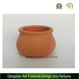 Supporto di candela di ceramica dell'argilla Esterno-Naturale - piccolo