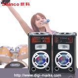 Caja de sonido activado las luces altavoz recargable PA con Bluetooth