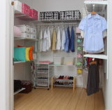 Chrome FinishおよびSatin Nickel Surface Treatment (CC-3)の1.8m Metal Closet Shelving Kit