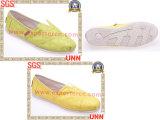 Chaussures de toile occasionnelles d'or (SD6186)