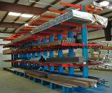 Racking Cantilever resistente do armazenamento dobro do braço