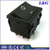 SGS黒い16A Dpstのマイクロロッカーのかいボタンスイッチ(SS24)