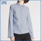 Camisa rayada del popelín de la colmena del algodón puro