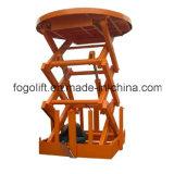 Depósito usando equipamentos de manuseio de materiais do elevador de elevação
