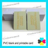 PVC vierge et Carte imprimable