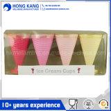 多彩なメラミンアイスクリームのコップ