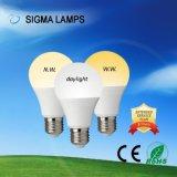 Indicatore luminoso di lampadina residenziale commerciale della lampada LED di CA 110V 220V 3W 5W A19 A60 7W 9W 12W 15W di sigma con B22 E27