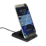 Samsung 은하 S7 S7 가장자리를 위한 Qi 본래 수직 표준 무선 충전기는 iPhone 8을%s 단식한다