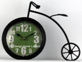 Decoración Vintage bicicleta negro de Antigüedades de metal de forma de reloj de mesa