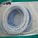 中国のダイヤモンドワイヤーは大理石および花こう岩CNCについてはワイヤー切口見た