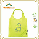 Custom Full Color Logoの190t Polyester Reusable Foldable Shopping Bag