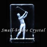 Cubo del golf del laser del cristal 3D (ND7029)