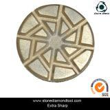 금속 잡종 닦는 패드 또는 금속 구체적인 벨크로 뒤 패드