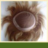 Men를 위한 브라운 Human Hair Full Lace Wig