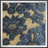 網の刺繍のレースのテュルの刺繍のレースの黒の地上のレース