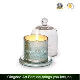 Vaso di vetro della candela di vendita calda con la decorazione della casa del Cloche