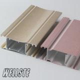 Perfil de aluminio para las puertas y el polvo de Windows cubiertos