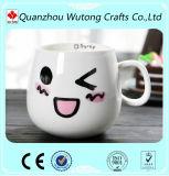 Taza personalizada de cerámica Morcelain gracioso emoticono Material
