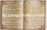 Arte di legno della parete di figura del libro dell'unità di elaborazione Leather/MDF di religione