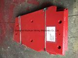Placa lateral das peças de recolocação do triturador para Metso Lt105