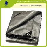 tissu d'extension imperméable à l'eau réutilisé argenté de la bâche de protection 200GSM