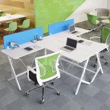 본사 가구 백색 색깔 L-Shaped 나무로 되는 책상