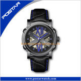 Form, die Japan-Edelstahl-Anzeigetafel-Sport-Vertikale-Armbanduhr bezaubert