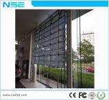 Afficheur LED de verre transparent élevé de 80% P5mm pour le système de guichet