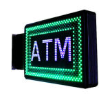 Geanimeerde LEIDENE van de Raad van het Teken van de Verlichting van het Teken van ATM Vertoning