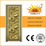 تصميم علبيّة ذهبيّة متوهّج ألومنيوم أبواب زجاجيّة ([سك-د036])