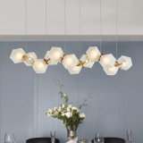 Pfosten-modernes Wohnzimmer-Gaststätte-Stab-Metallhängende Glaslampen
