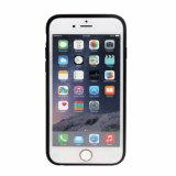 Caja del teléfono móvil de la goma TPU de la PU del metal para el iPhone