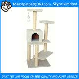 Kundenspezifischer Qualitäts-Innenkatze-Baum-hölzernes Katze-Haus