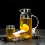 Fruchtsaft-Glaspotentiometer-gesetzter Glasware-Krug-Kaffee-Tee-Krug