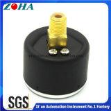 """[40مّ/1.5] """" مصغر خلفيّة توصيل أسود فولاذ حالة عامّ ضغطة مقياس"""