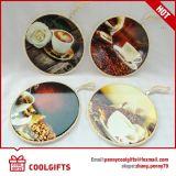 台所ギフトのためのChristamsの円形水吸収性の陶磁器のUntiskid Tablemat