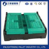 caixa de pálete plástica de dobramento do engranzamento de 1200*1000*810mm para vegetais
